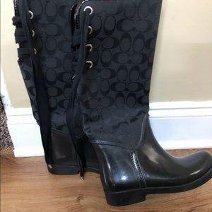 Coach Rain Boots 7B